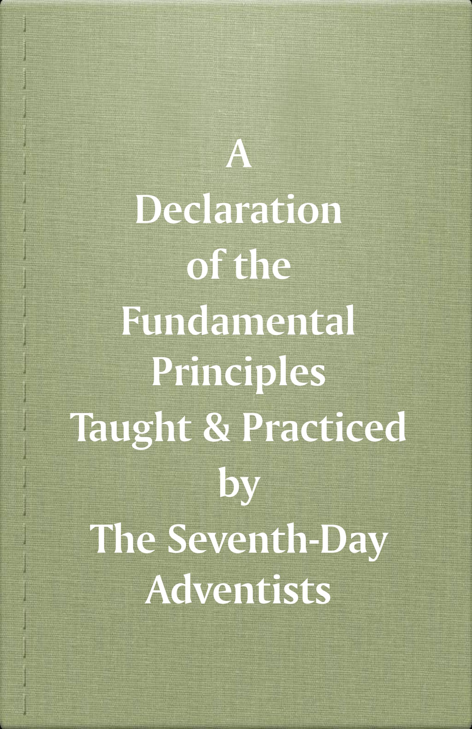 1872 and 1889 SDA Fundamental Beliefs